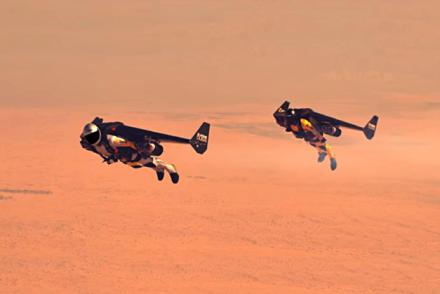 Jetman Aerobatic Formation dubai desert