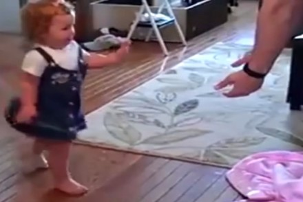 toddler's First Few Steps with Her New Prosthetic Leg