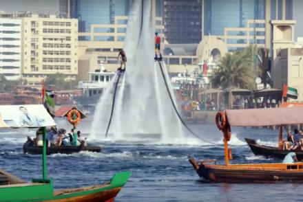 Dubai flyboarders