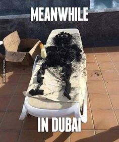 dubai burnt photo