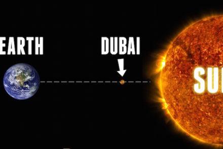 dubai middle of sun and earth