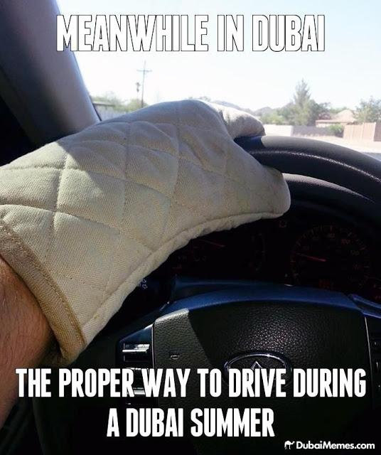 dubai summer hot driving wheel