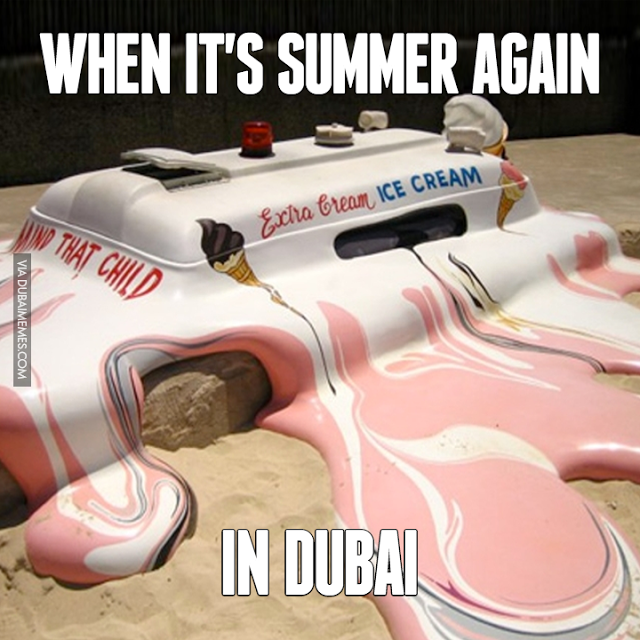 summer melting dubai