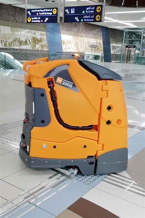 robots clean metro station dubai