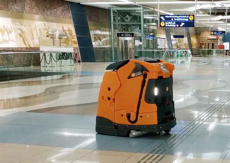 robots dubai metro station